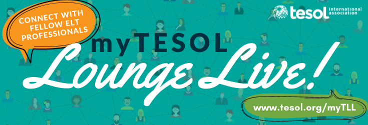 Upcoming myTESOL Lounge Live! Events